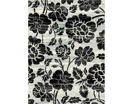 Midas 5X8 Area Rug in Grey/Black 1654-HS244
