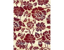 Midas Large 8X11 Area Rug in Red Beige 1654-X0144