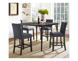 Brassex Arianna Collection 5 Pc Wood Pub Dinette in Espresso/Grey 167