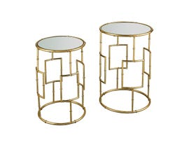 Stein World King Priam Round Accent Tables in Gold ST_16707