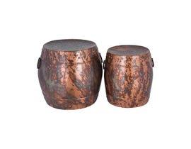 Stein World Zagora Set of 2 Stools in Brown ST_16710