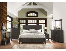 Mazin Furniture 6PC King Bedroom Set in Grey 1675