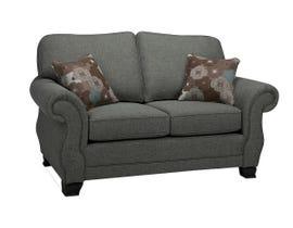 SBF Upholstery Kingston Series Fabric Loveseat in Arbour Grey 1683