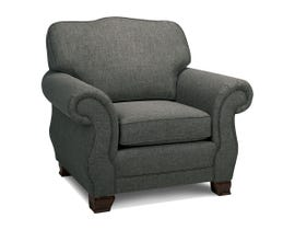 SBF Upholstery Kingston Series Fabric Chair in Arbour Grey 1683