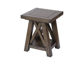 Stein World Manteo Side Table in Farmhouse Grey Brown Stain ST_16989