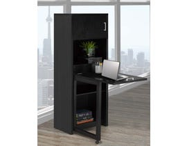 Brassex Multi-Tier Bookcase with Fold Down Desk Black 170291 BLK