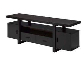 Brassex Wood 60' TV Stand with Storage in Dark Cherry 171999