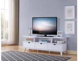 "Brassex 60"" TV Stand with Storage in White 172003-WH"