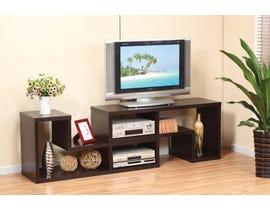 Brassex Multiple Configuration 66' Wood TV Stand in Dark Cherry 17012X2