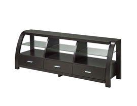 Brassex 60' Wood TV Stand with Storage in Dark Cherry 172117