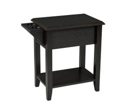Brassex Telephone Stand with Storage Drawer and Cupholders Dark Cherry  172120