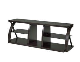 Brassex 60 inch wood tv stand in dark cherry 172141