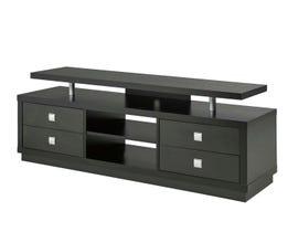 Brassex 66' Wood TV Stand with Storage in Black 172142