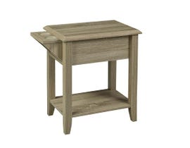 Brassex Telephone Stand with Storage Drawer and Cupholders Dark Taupe 172146