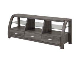 Brassex 60' Wood TV Stand with Storage in Grey 172235