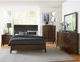 Mazin Pinewood/MDF 6 Piece Queen Bedroom Set in Cherry 1730