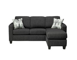Sofa By Fancy Encore Collection fabric sofa sectional Jo in Charcoal grey Finish 1775-04