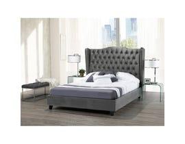 Brassex Pearl Queen Platform Bed Frame Grey B1800Q-GR