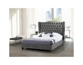 Brassex Pearl Queen Platform Bed Frame Grey B1800Q-GR