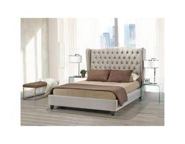 Brassex Pearl Queen Platform Bed Frame Beige B1800Q-BEI