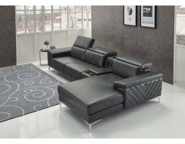 K Living Sara Sectional in Black 1817SEC