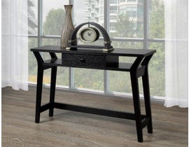 Brassex wood console table with storage in black 182263