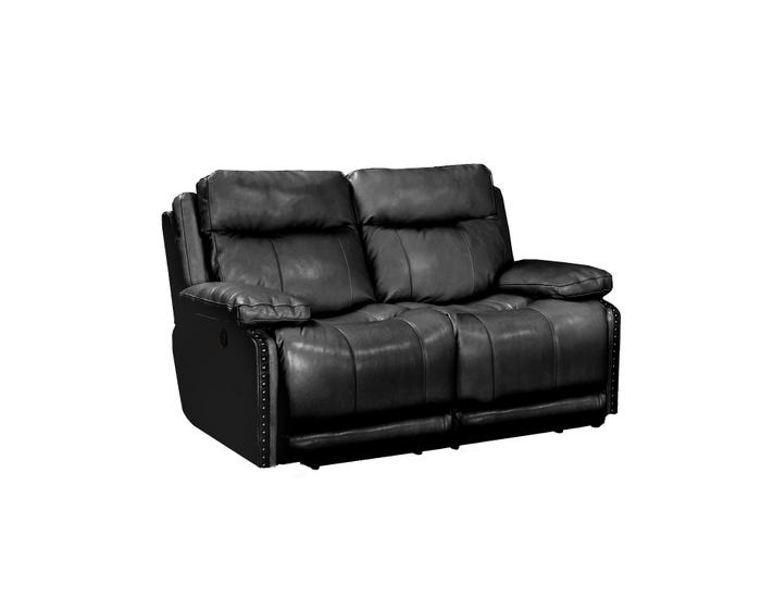 Brilliant Kwality Avalon Leather Reclining Loveseat In Black 18227 Gmtry Best Dining Table And Chair Ideas Images Gmtryco