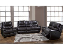 K-Living Myla High Grade Leather Power Recliner 3 PCS Sofa Set with 5 USB OUTLETS in Chocolate Brown