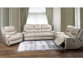 K-Living Myla High Grade Leather Power Recliner 3 PCS Sofa Set with 5 USB Outlet in Taupe