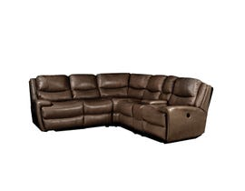 Iris High Grade Leather Sectional in Espresso 18275