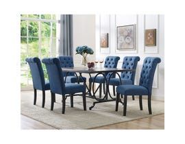 Brassex Tinga 7 Piece Dining Set in Brown/Grey & Blue 185-64-638-22-BL