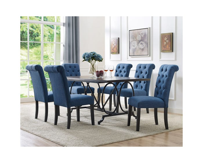 Dining Set Brassex 185 64 638 22 Bl Grey Brown Blue Lastman S Bad Boy