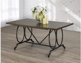 Brassex Tinga Series Dining Table in Espresso/Black 185-64