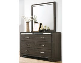 K Living Aurora Series Dresser and Mirror in Brown 1915