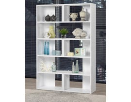 Brassex Multi-Tier Bookcase in White 192398-X2-WH