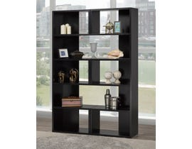 Brassex Multi-Tier Bookcase in Black 192399-X2-BLK
