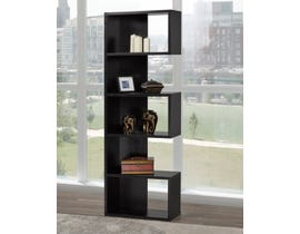 Brassex Multi-Tier Bookcase in Black 192399-BLK