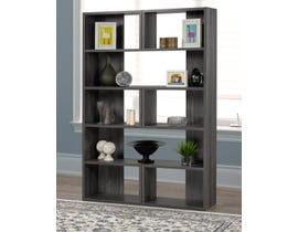 Brassex Multi-tier Bookcase in Dark Grey 192400-X2-DG