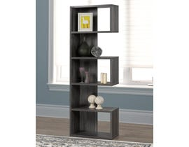 Brassex Multi-tier Bookcase in Dark Grey 192400-DG