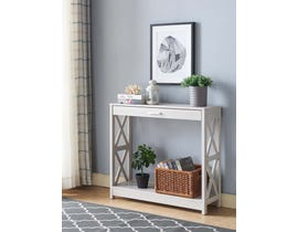 Brassex Console Table with Storage in White Oak 192615