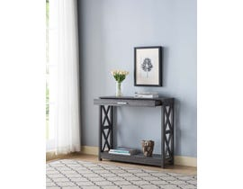 Brassex Console Table with Storage in Grey 192616