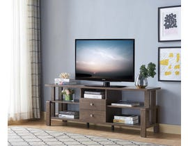 Brassex 60'' TV Stand with Storage in Walnut Oak 192688
