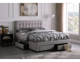 Brassex Storage Platform Bed in Beige 1952