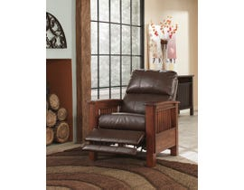 Signature Design by Ashley leather High Leg Recliner Santa-Fe in brown 1990026