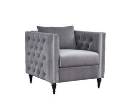 K LIVING Olivia Accent Chair in Grey  609115-GR