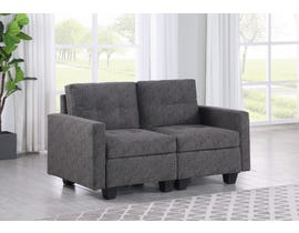 Brassex Allegra Loveseat in Grey 2003-1