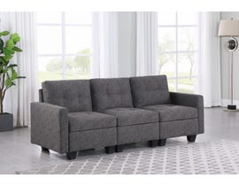 Brassex Allegra Fabric Sofa in Grey 2003-2