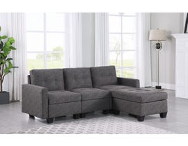 Brassex Allegra Sectional with Reversible Chaise in Grey 2003-3