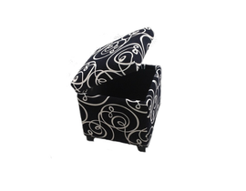 Kwality Cube storage ottoman in black and white 2012BK