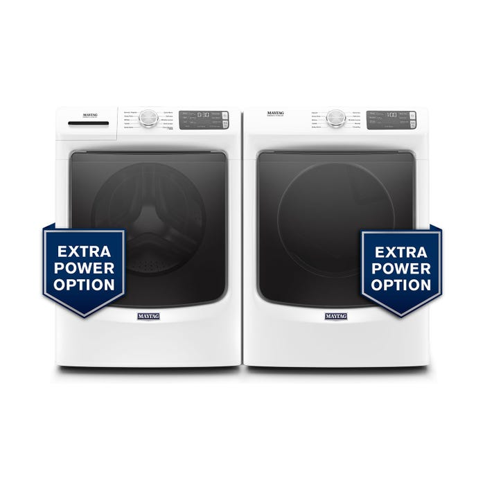 Maytag 27 inch Front Load Laundry Pair MHW5630HW/YMED5630HW